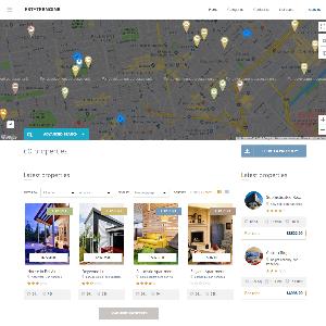 Mẫu website bất động sản EstateEngine