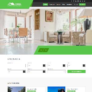 Mẫu website bất động sản Oikia