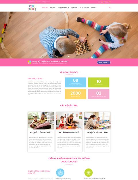 Mẫu website giáo dục Cool School