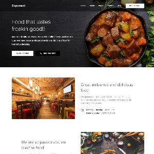 Mẫu website nhà hàng – NEX0001
