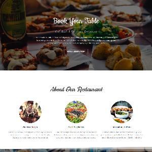 Mẫu website nhà hàng – NEX0004