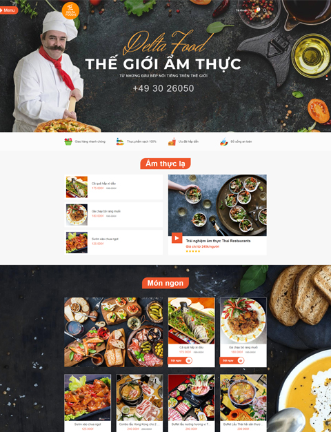 Mẫu website nhà hàng – NEX0010