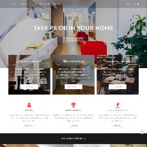 Mẫu website giới thiệu công ty kiến trúc – NEX0005