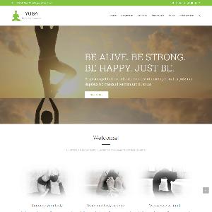 Mẫu website tạp chí sức khỏe Yoga