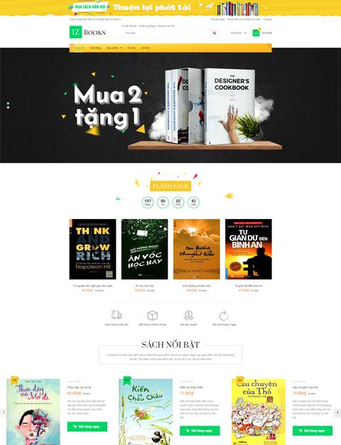 Mẫu webiste bán sách – Ebook