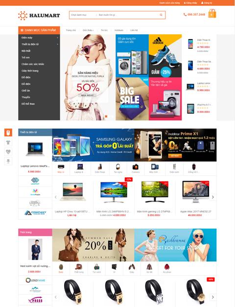 Mẫu website siêu thị mini chuẩn SEO – NEX0045