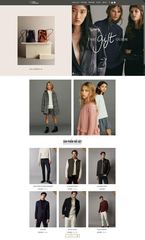 Mẫu giao diện kinh doanh thời trang TMT Fashion
