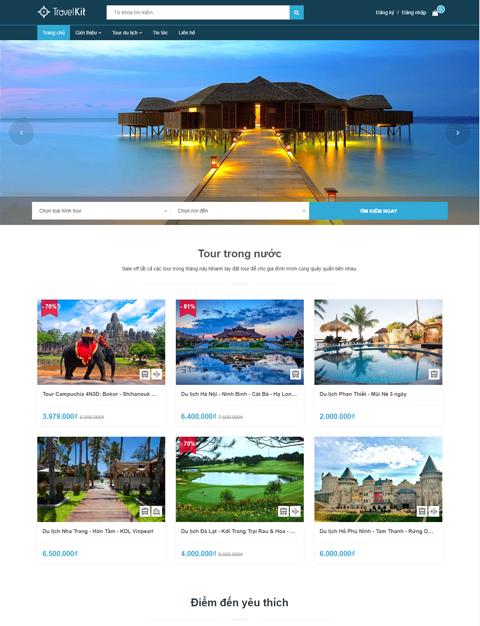 Mẫu website giới thiệu công ty du lịch TeaTravel