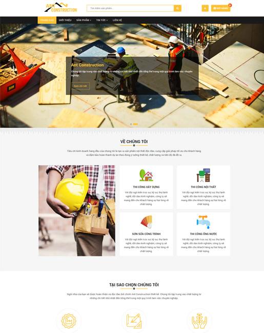 Mẫu web công ty xây dựng thiết kế nội thất – NEX0013