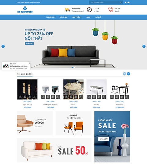 Mẫu giao diện cửa hàng nội thất – NEX0026