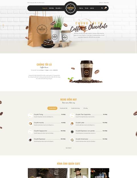 Mẫu giao diện cửa hàng coffee – NEX0024