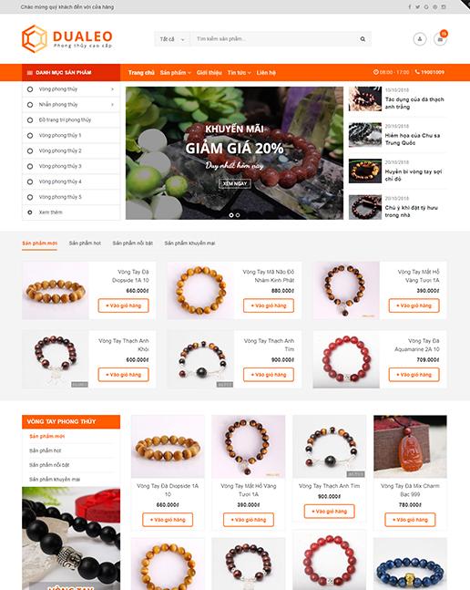 Mẫu web trang sức đá quý phong thủy