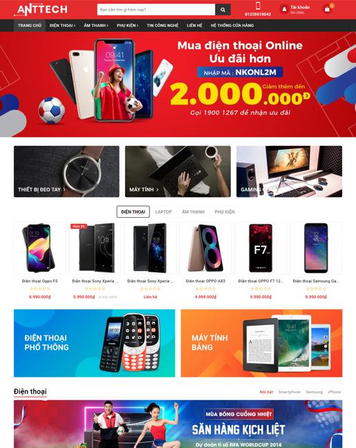 Mẫu website kinh doanh thiết bị điện tử – NEX0049