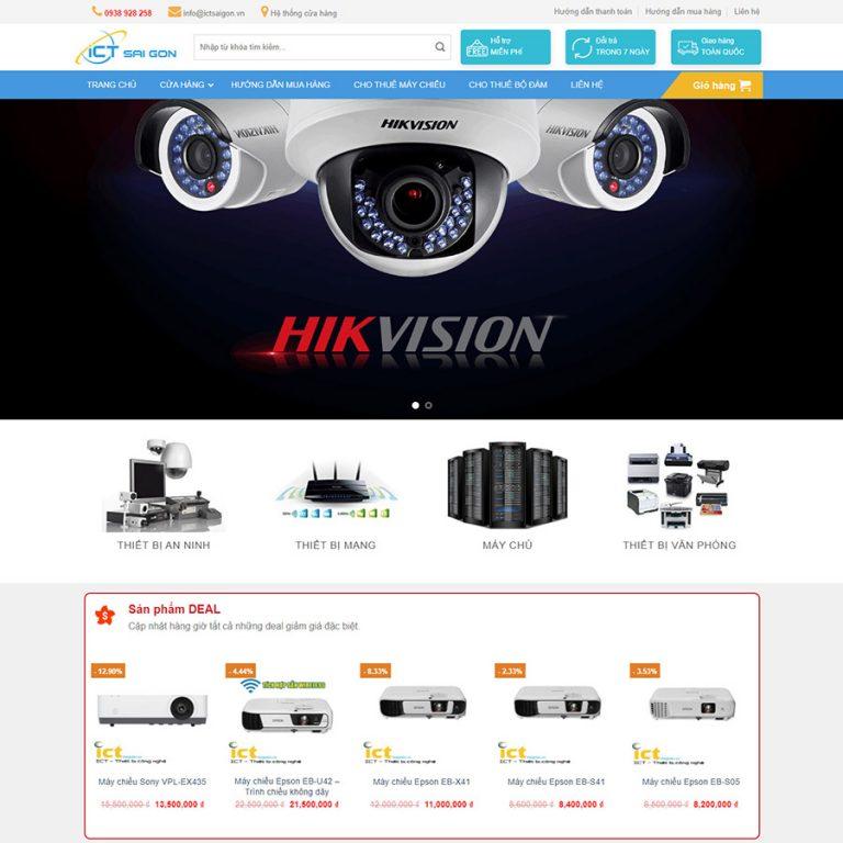 Mẫu web bán camera 02