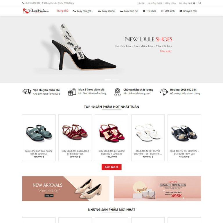 Mẫu web bán giày nữ
