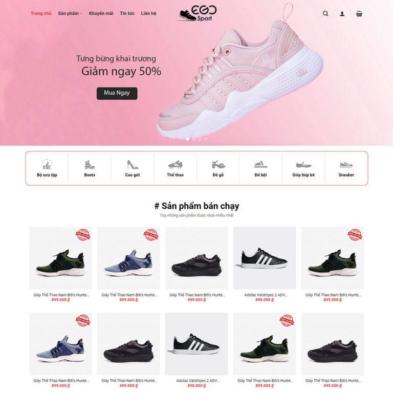 Mẫu web bán giày thể thao