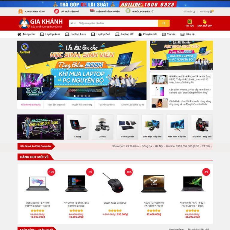 Mẫu web bán hàng điện tử – máy tính 02