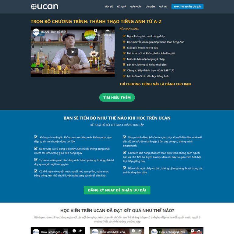 Mẫu web bán khóa học online 01