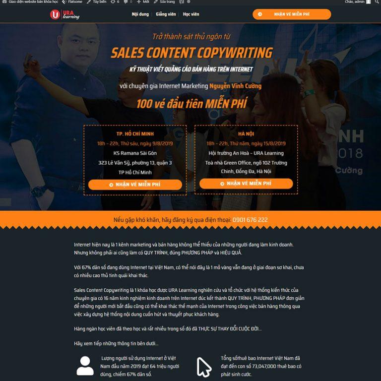 Mẫu web bán khóa học online 02