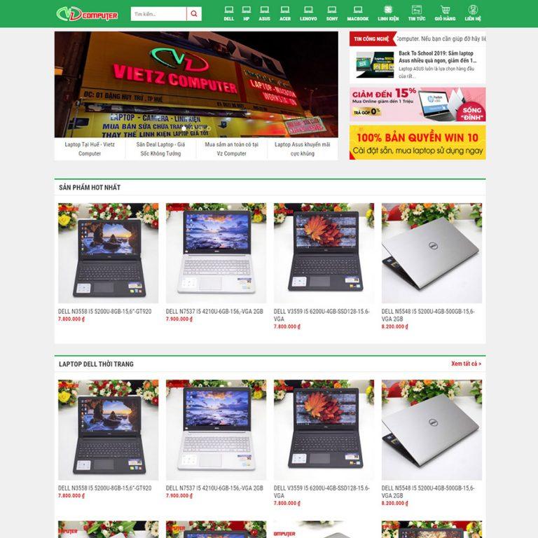 Mẫu web bán laptop 01