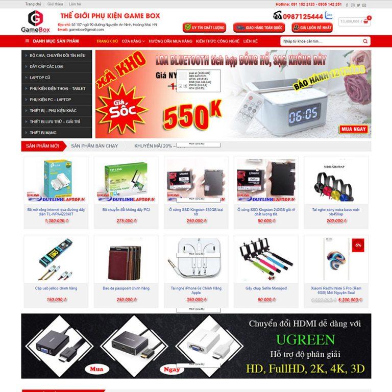 Mẫu web bán máy tính 01