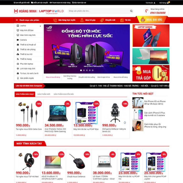 Mẫu web bán máy tính 03