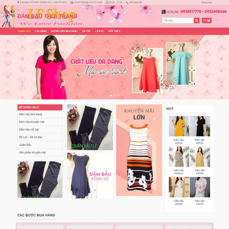 Mẫu web bán quần áo thời trang