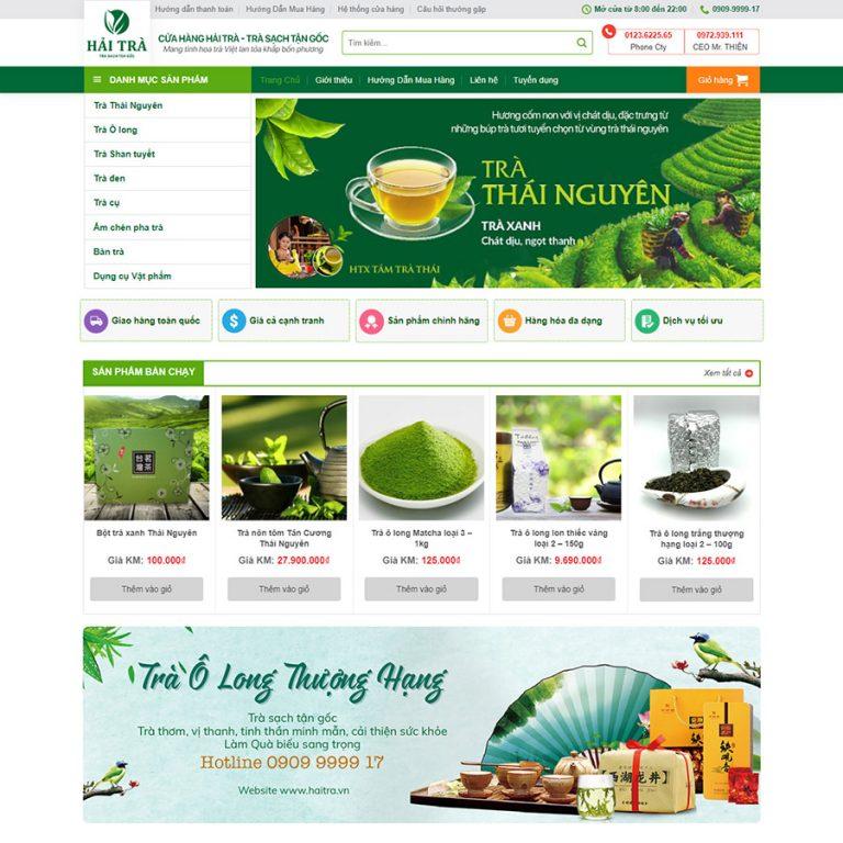 Mẫu web bán trà xanh