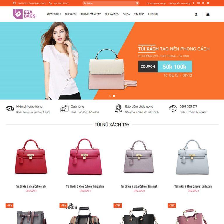 Mẫu web bán túi xách