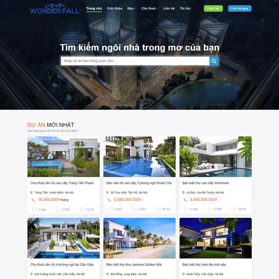 Mẫu web bất động sản 048