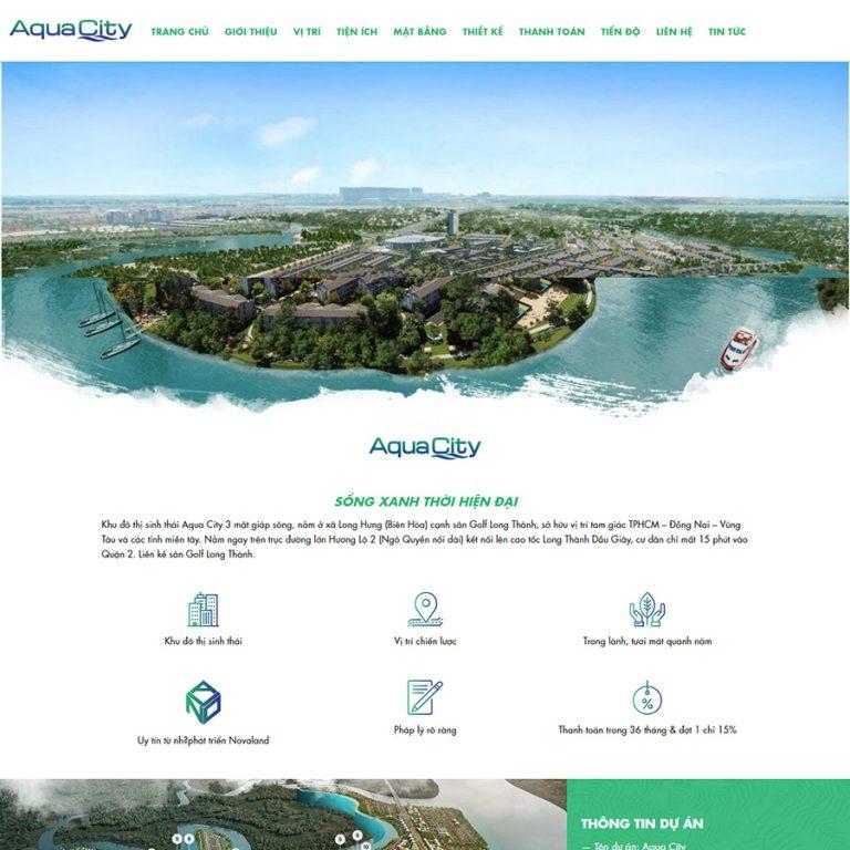 Mẫu web bất động sản Aqua City