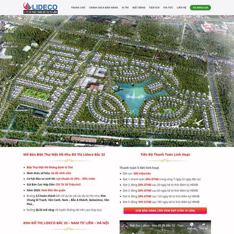 Mẫu web bất động sản Lideco