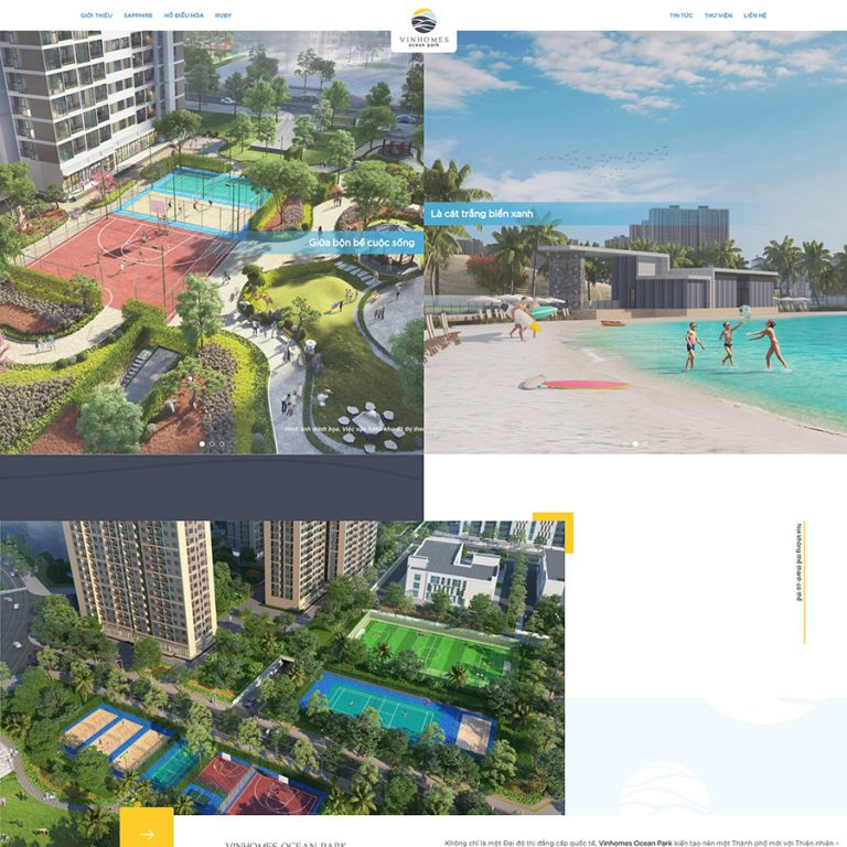 Mẫu web bất động sản Ocean Park
