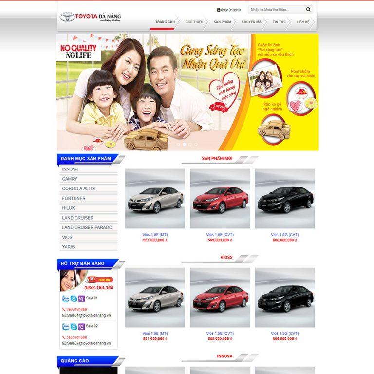 Mẫu web đại lý Toyota