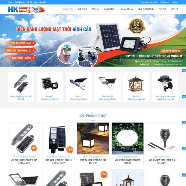 Mẫu web đèn năng lượng mặt trời