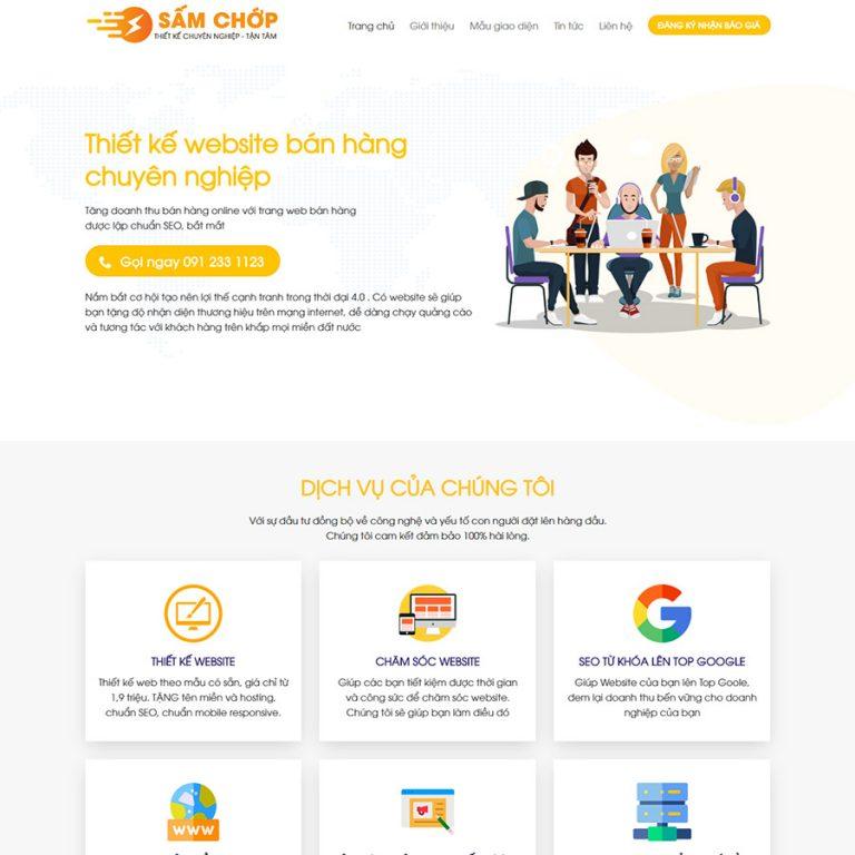 Mẫu web dịch vụ thiết kế web 03