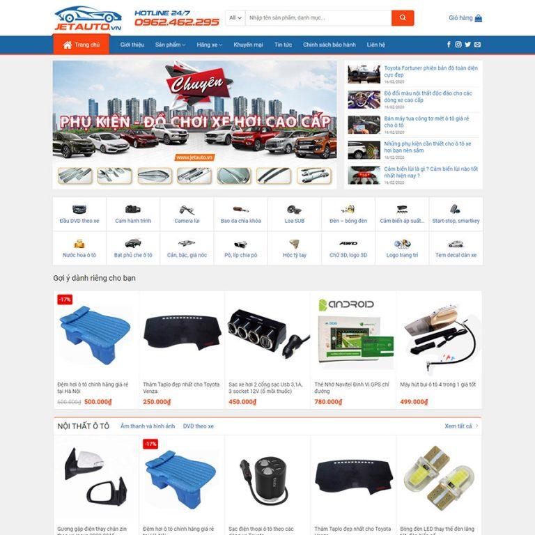 Mẫu web bán đồ chơi xe hơi 01