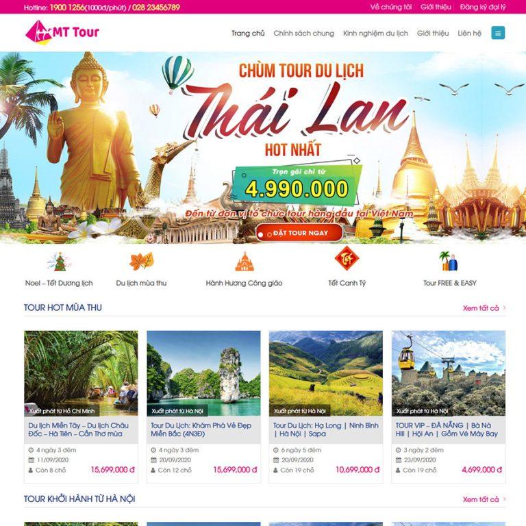 Mẫu web du lịch 09