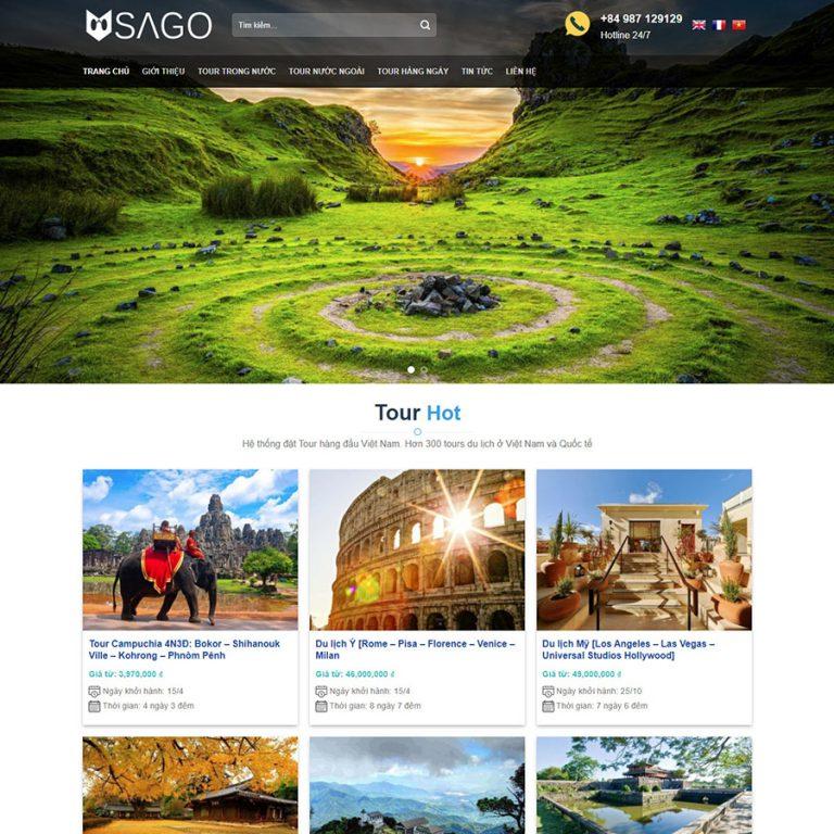 Mẫu web du lịch 05