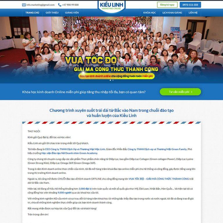Mẫu web khóa học online 08