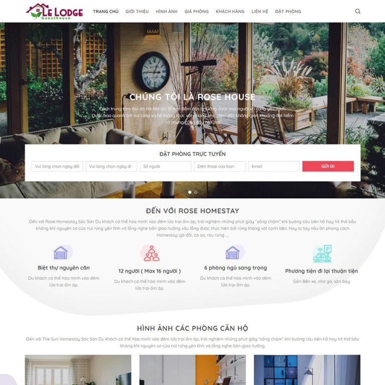 Mẫu web giới thiệu khách sạn
