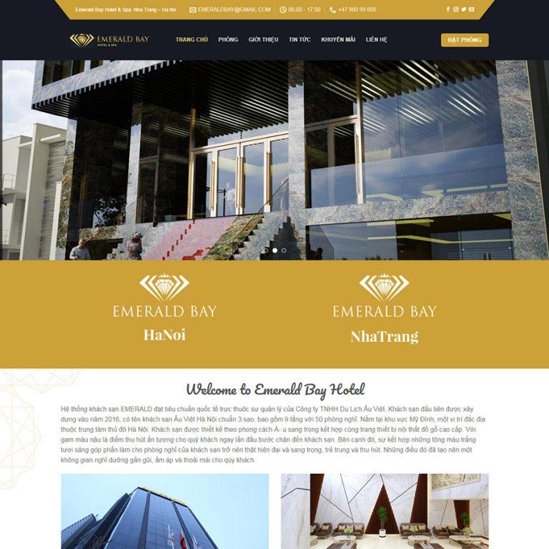 Mẫu web khách sạn 01