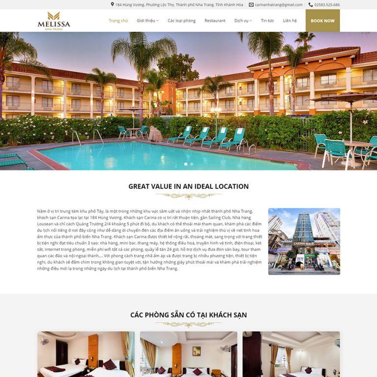 Mẫu web giới thiệu khách sạn 02