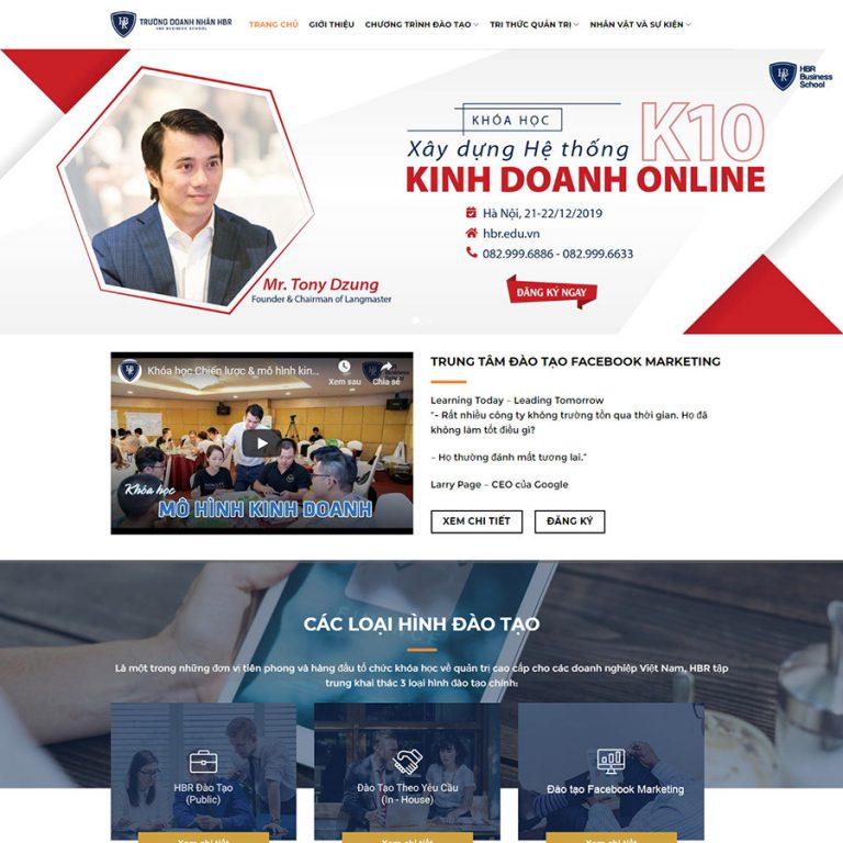 Mẫu web bán khóa học 03