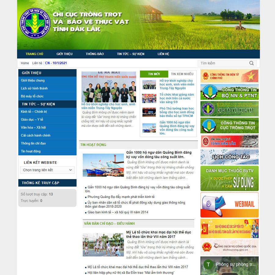 Mẫu web nhà nước 03
