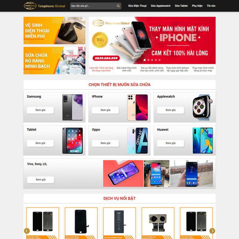 Mẫu web sửa điện thoại 01