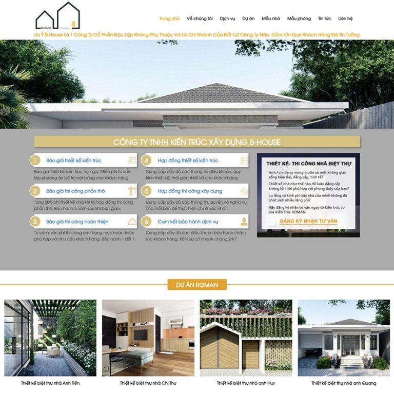 Mẫu web thiết kế biệt thự