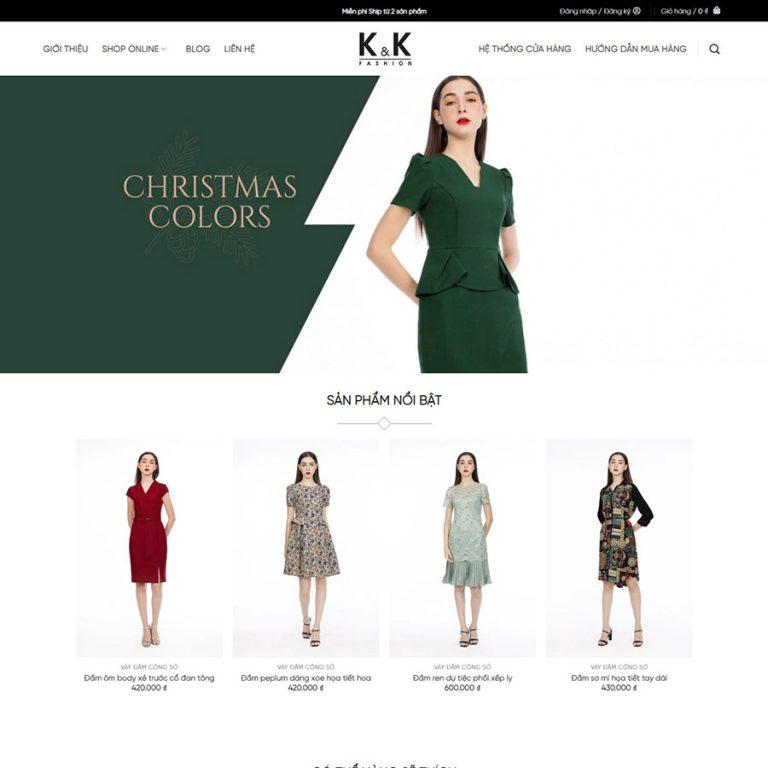 Mẫu web bán thời trang 02
