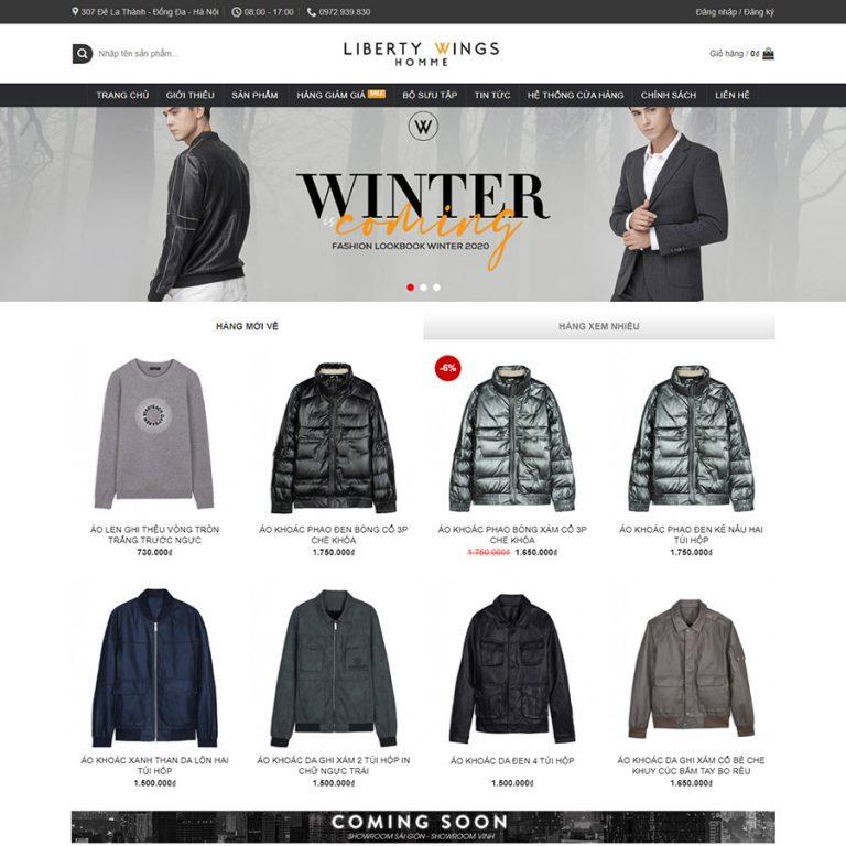Mẫu web thời trang 03