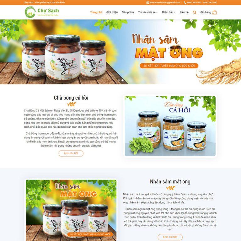Mẫu web thực phẩm chức năng 7